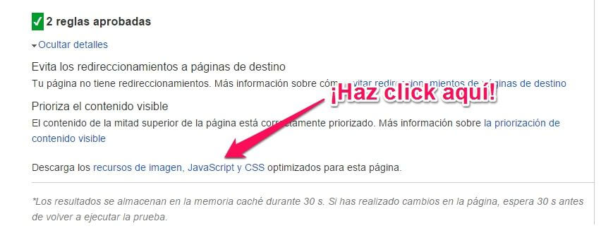 imagenes optimizadas google page speed
