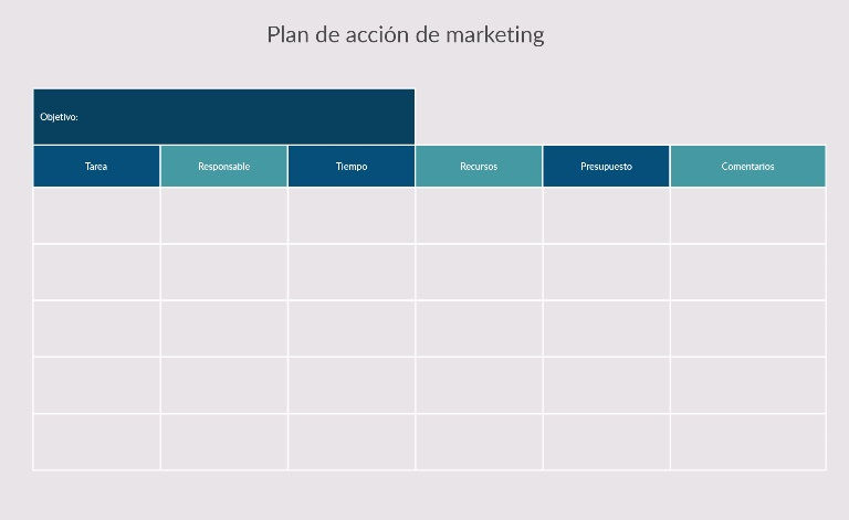 Plan de acción de marketing - Creately
